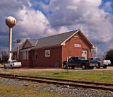 An old train depot at Hodge, Louisiana