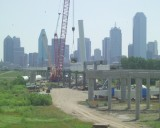 Dallas Texas is Erecting a Calatrava Designed Suspension Bridge on the West Side of Downtown