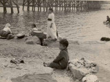 Clothes Washing in Han River 1952