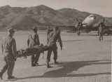 Taking wounded to Gypsy C47