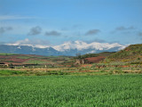 Snow covered mountains in Najera