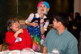 Alison, clown and John