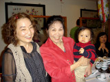 Lily, Kathy, and Christopher