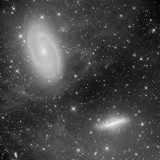 M 81 and M 82 with Surrounding Flux