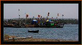 FISHINGBOATS in CHAPORA, GOA, INDIA