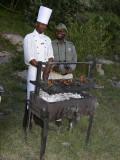 Patrick and Mara Safari Club cook at Sundowners in the bush. jpg.jpg