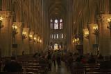 Notre Dame Paris - Begun 1160's - Nave Interior view