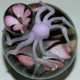 Josh's sweet spider marble with 'Matching Flower Abdomen'.  2nd place, boro marble.