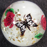 Butterfly Rise by a Rose Size: 1.39 Price: SOLD