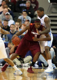 Virginia Tech F Allen works his way into the paint