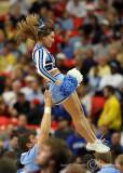 North Carolina Tar Heels Cheerleaders during a timeout