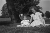 In the park with my mother, she  was  23