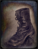 My armyboots after to many kilometers.