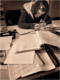 My daughter Anneke studying for  her  2nd year university.