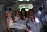 Flower Girls in the Limo