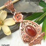 Copper Pendants, Classic Copper Jewelry With Gems