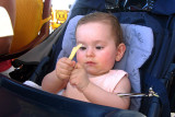 Angelica enjoying french fries