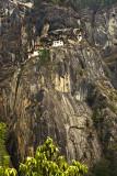 Taktsang Lhakhang - Tiger's Nest -  high up on a sheer rockface