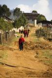 Monks walking to Gantey Monastery
