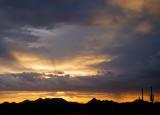 Sunset Over the Sand Tank Mountains (Near Aztec)