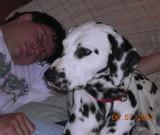 Robert and Caleb take a post show nap
