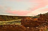Sunset over some Wupatki Ruins