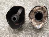 EXC-R/XCW Silencer Endcap (left) vs XCF/SXF Endcap (right)