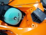 KTM Quad Air Filter Baffle Removed