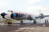 2009 - #2 engine of the Historical Flight Foundation's DC-7B N836D running for the first time since 2004 stock photo #1937