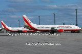 2009 - Vision Airlines B737-3T0 N732VA and B737-46B N743VA aviation stock photo #0122