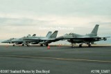 2007 - 2 USN F/A-18C Hornets #403 and #404 and Alabama Air National Guard F-16C #AF87-0263 military aviation stock photo #2798