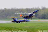 The Blue Angels solos taking off at the 2008 Great Tennessee Air Show practice show at Smyrna aviation stock photo #1540