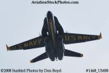 A solo Blue Angel at the 2008 Great Tennessee Air Show practice show at Smyrna aviation stock photo #1468