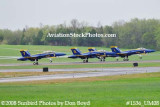 The Blue Angels taking off at the 2008 Great Tennessee Air Show practice show at Smyrna aviation stock photo #1536