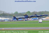 The Blue Angels taking off at the 2008 Great Tennessee Air Show practice show at Smyrna aviation stock photo #1538