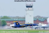 The Blue Angels #6 taking off at the 2008 Great Tennessee Air Show practice show at Smyrna aviation stock photo #1543