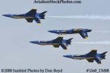 The Blue Angels at the 2008 Great Tennessee Air Show practice show at Smyrna aviation stock photo #1560