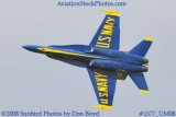 The Blue Angels #6 at the 2008 Great Tennessee Air Show practice show at Smyrna aviation stock photo #1577
