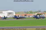 The Blue Angels after landing at the 2008 Great Tennessee Air Show practice show at Smyrna aviation stock photo #1627