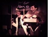 Antonello playing the BUNNY BOY for a show to the staff in 77. with Flint on stage