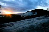 Sun sat on Stone Mountain NC.