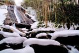Stone Mountain Falls, Snow of 12/18 &19 /09 on Big Sandy Creek