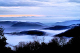 Blue Ridge Magic, Photo made on the BRPW just after Sunset