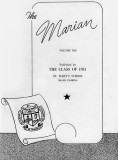 1951 - the inside cover of The Marian, St. Mary's School Class of 1951