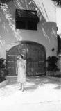 1938 - unknown lady in front of Al Capone's home on Star Island