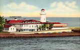 1950's - the Lighthouse Restaurant at Haulover Park on A1A, Dade County