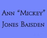 In Memoriam - Ann Mickey Jones Baisden