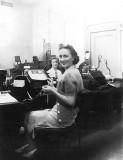 1940's - Inez Conger Skelton at work at Pan American Airways System