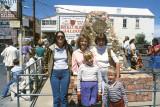 1985 - Karen(Brenda's good friend), Karen C., Karen D., Brenda Reiter and her son Justin at the Pony Express Centennial Monument