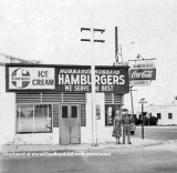1940's - Harold and Dorothy Hubbard in front of Hubbard's Kubbard on Hialeah Drive